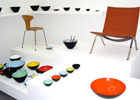 A classic is reborm krenit bowls with chairs in a white room