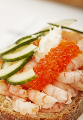 Open Shrimp Sandwich