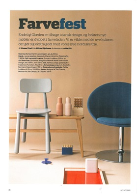 Denmark, Alt Interioer, April 2014, Nocto and Bop Chair