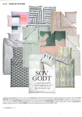 Denmark, Mad og Bolig, April 2014, Sprinkle Bed Linen, Plus Bed Linen