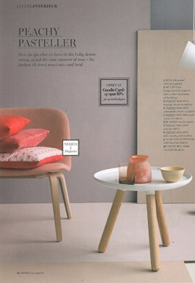 Tablo Table in Living Magazine, Summer 2014