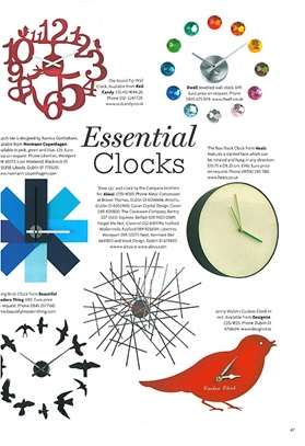 Watch-me clock Ireland's Homes Interiors & Living August 2012