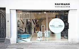 offline vs online launch exhibition Normann Copenhagen Flagship Store