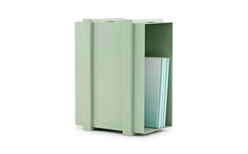 COLOR BOX STORAGE UNIT green with books