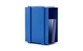 COLOR BOX STORAGE UNIT blue with books