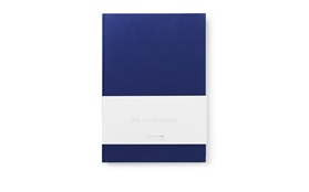Daily Fiction Notebook large ink blue