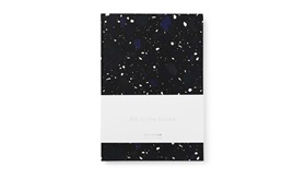 Daily Fiction Notebook large space stone dark