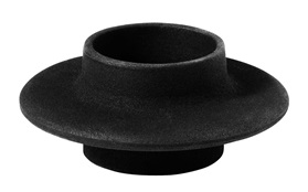 Heima tea light candleholder cast iron black sideview