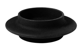 Heima block candle holder cast iron black frontview sideview