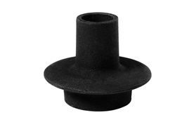 Heima candlestick one candle holder cast iron black frontview