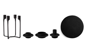 Heima candleholders castiron black all group