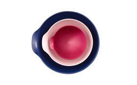 Jensen bowl designed by Ole jensen top view rose pink purple