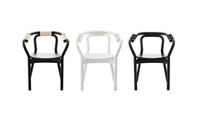 Knot Chair 3 row Black White