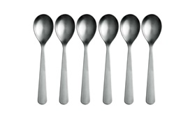 Normann Cutlery spoon group on white background