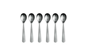 Normann Cutlery teaspoon group on white background