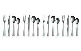 Normann Cutlery all pieces 16 in a giftbox on white background