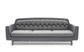 Onkel Sofa light grey front