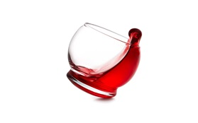 Rocking glass action function red drink