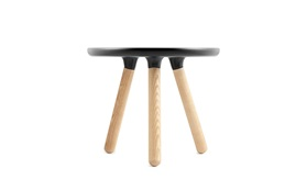 Tablo tables small black frontview on a white background