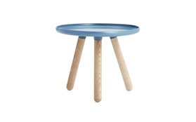 Tablo tables small blue frontview on a white background