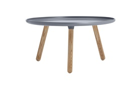 Tablo tables large grey frontview on a white background